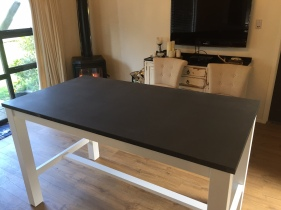 Dark Bluestone Dining Table with timber frame_2