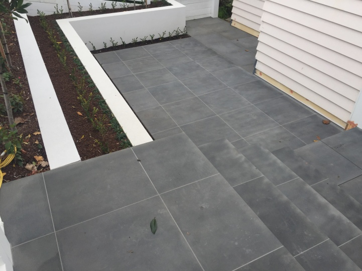 Bluestone stairs and paving