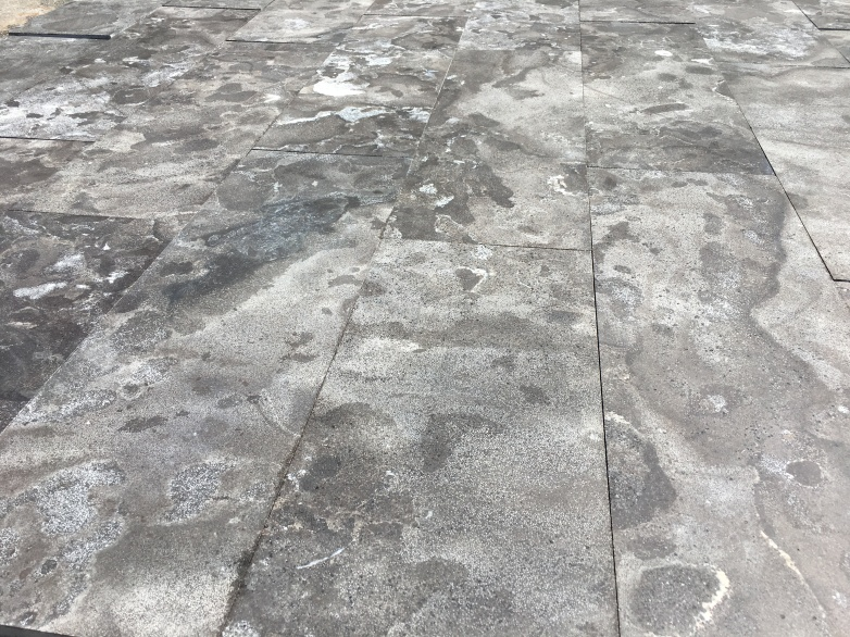 Limestone Blue Acid Wash finish paving