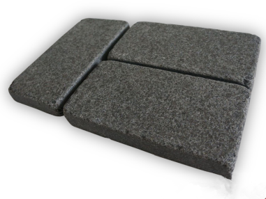 Black Basalt Flamed finish Tumbled Cobbles