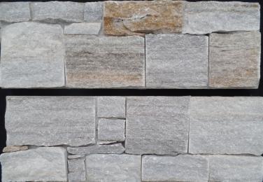 Golden Vein Quartzite - Cement Backed Walling