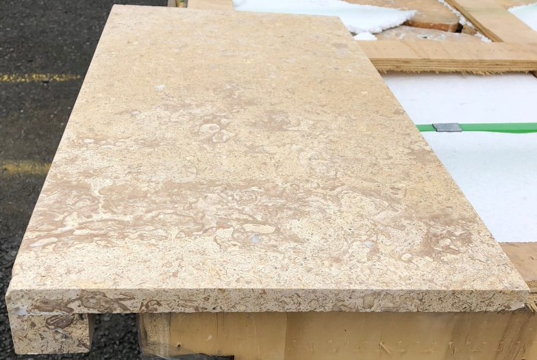 Coffee Travertine Laminated Dropface