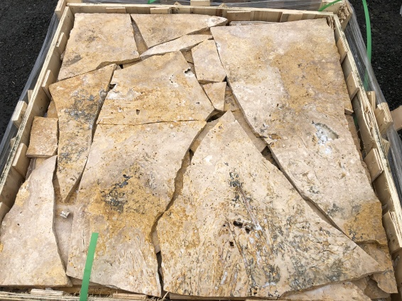 Coffee Travertine Crazy Paving