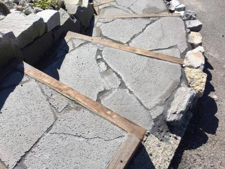 Lava Rock Crazy Paving
