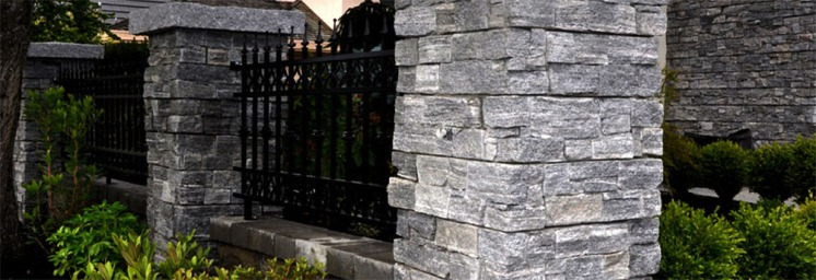 Stormy Grey Granite Cement Backed Walling Stone