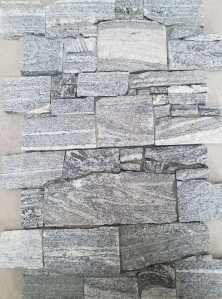 Stormy Grey Granite Cement Backed Walling