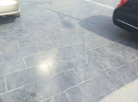 Limestone Blue Honed finish paving