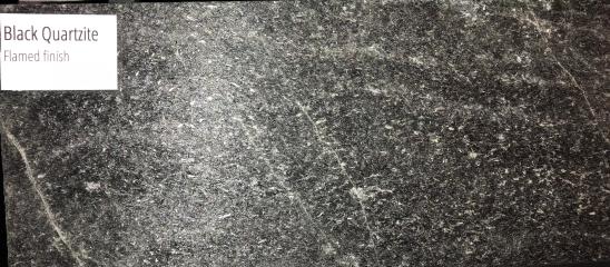 Black Quartzite Flamed finish (with flash)