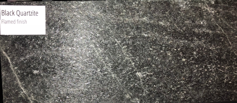 Black Quartzite Flamed finish (with flash)