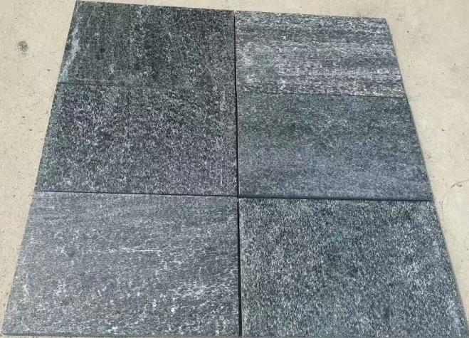 Black Quartzite Flamed finish