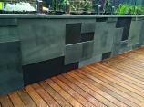 Bluestone Sawn & Honed retaining wall