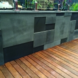 Bluestone Sawn & Honed retaining wall