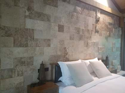 Coffee Travertine Antiqued mix up with natural split