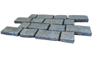 Black Basalt Cobbles - Antique Pattern on mesh