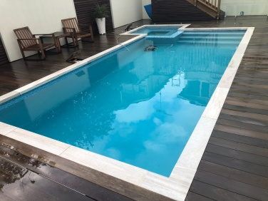 White Quartzite Dropface Pool Coping