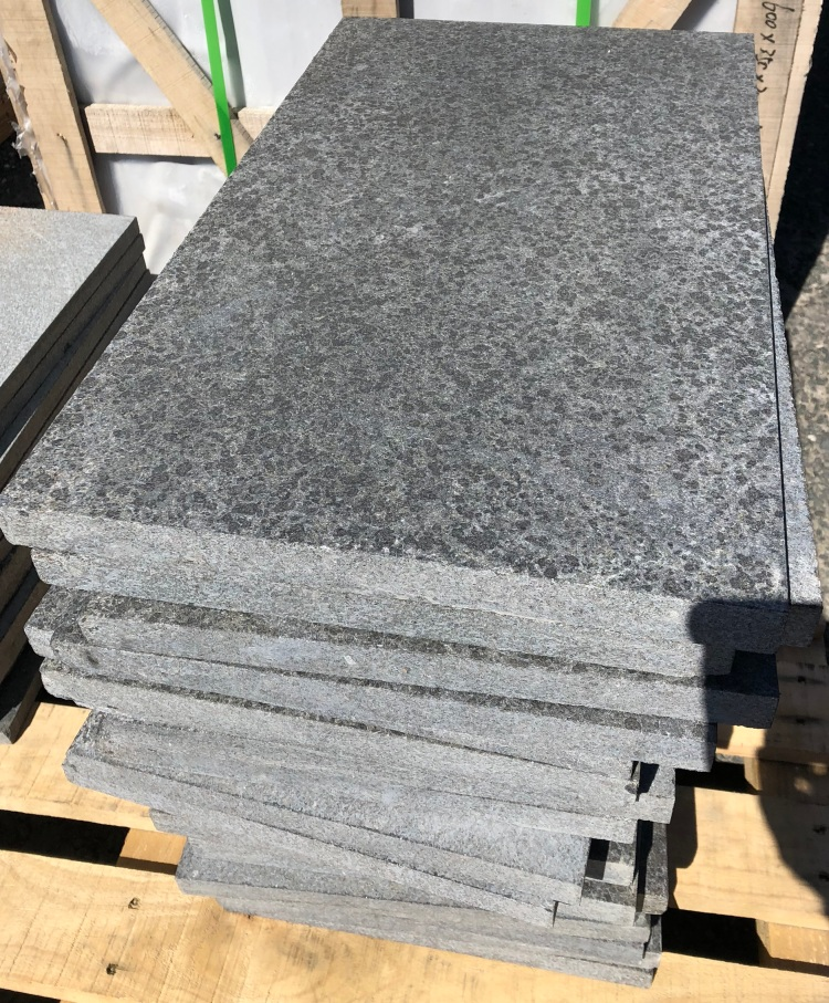 Black Basalt Flamed finish
