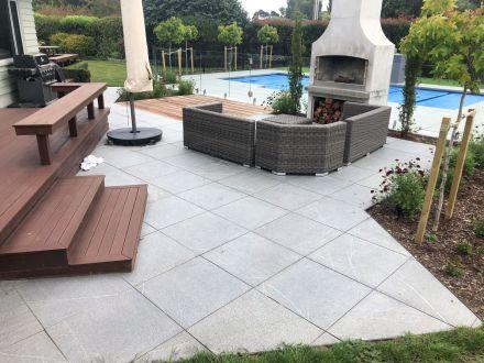 Grey Granite Flamed paving