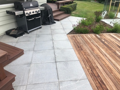 Grey Granite paving