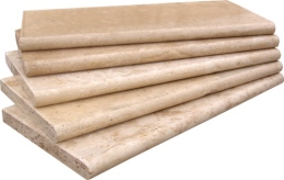 Classic Travertine Tumbled Bullnose Coper