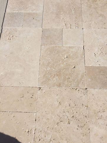 Classic Travertine Tumbled finish - french pattern