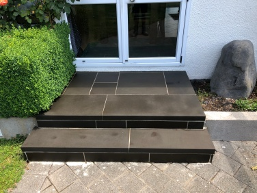 Bluestone Stairs - sealed with enhancing sealer