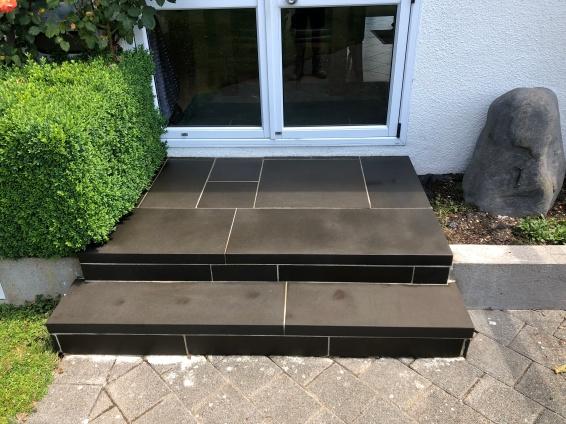 Bluestone Stairs - sealed with enhancing sealer