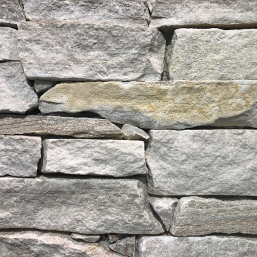 Golden Vein Quartzite Loose Walling (installed)